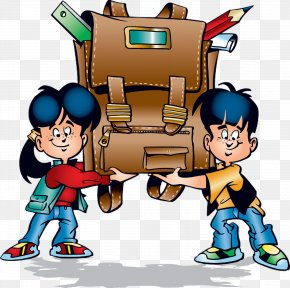 School Bag - Student School Cartoon Clip Art PNG