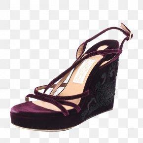 Ms. Ferragamo Heels - Suede Sandal Shoe Purple Pump PNG