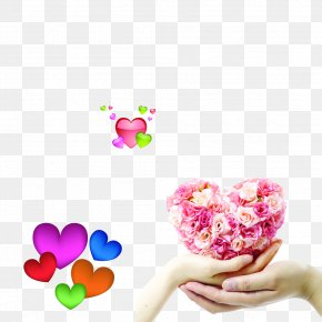 Heart-shaped - Flower Heart Hand Floristry PNG