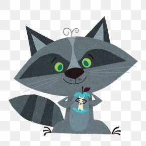 Cartoon Raccoon - Raccoon Drawing Cartoon Whiskers Illustration PNG