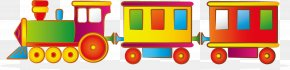 Vector Cartoon Little Toy Train - Toy Cartoon Child Stock Photography PNG