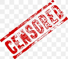 Censored Stamp Picture - Censorship Clip Art PNG