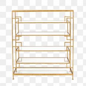 Table - Table Shelf Bookcase Gold Leaf Furniture PNG