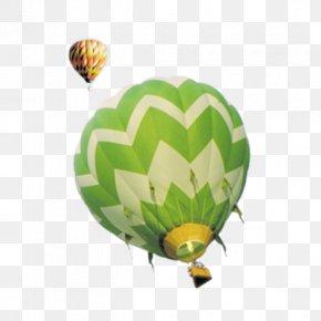 Double Twelve Promotions Green Hot Air Balloon - Hot Air Balloon Clip Art PNG