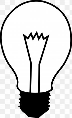 Electric Lamp Cliparts - Incandescent Light Bulb Electric Light White Clip Art PNG
