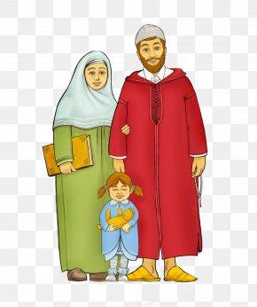 Islam - Muslim Family Islam Happiness Durood PNG