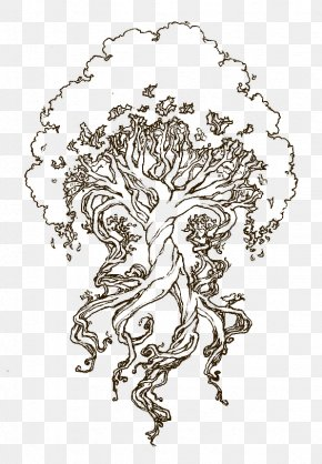 Tree Of Life Drawing Celtic - Yggdrasil Drawing Sketch Coloring Book Tree Of Life PNG