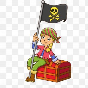 Children Dress Up Cartoon Pirate Vector - Cartoon Piracy Drawing Illustration PNG