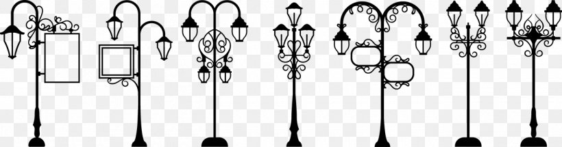 Christmas Lights Silhouette Png.Street Light Lighting Png 1300x341px Light Black And