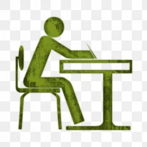 Art Clip Student Work At Desk - Student Study Skills Desk Icon PNG