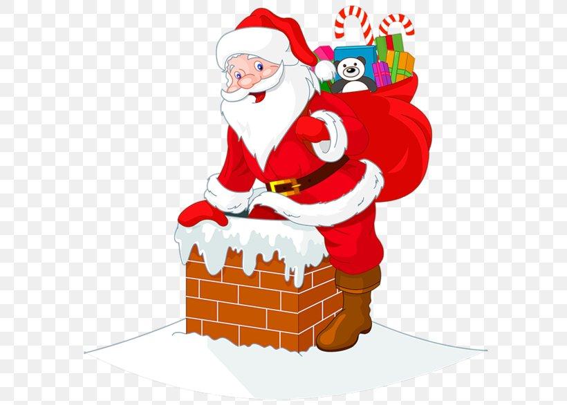 Santa Claus Clip Art, PNG, 600x586px, Santa Claus, Art, Chimney, Christmas, Christmas Card Download Free