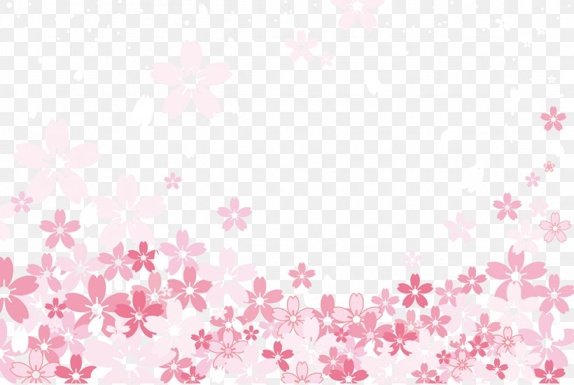 Textile Pink Pattern, PNG, 2399x1610px, Cherry Blossom, Color Triangle, Flower, Heart, Image File Formats Download Free