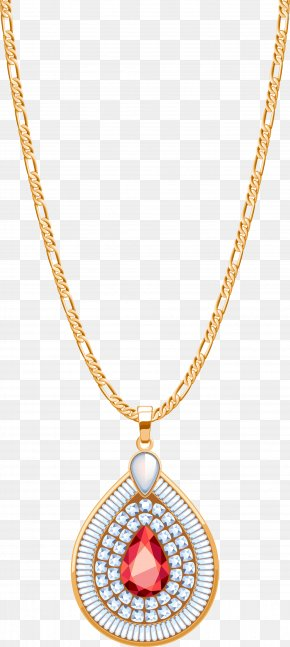 Golden Gemstone Necklace - Locket Jewellery Necklace Diamond PNG