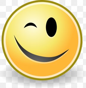 Smiley - Wink Face Emoji Smile UTF-8 PNG