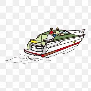Yacht - Cartoon Yacht Watercraft Illustration PNG