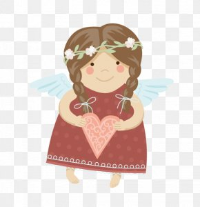 Lovely Angel - Angel First Communion Illustration PNG