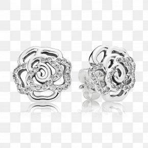 Earring - Earring Pandora Cubic Zirconia Charm Bracelet Jewellery PNG