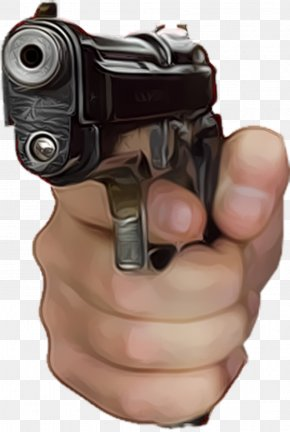 Hand Gun - Weapon Bumper Sticker Lawn Sign Military PNG