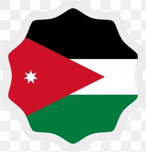 Jordan Flag Sticker Vector Illustration - Flag Of Jordan PNG
