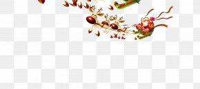 Santa's Reindeer - Santa Claus Template Letter From Santa Christmas PNG