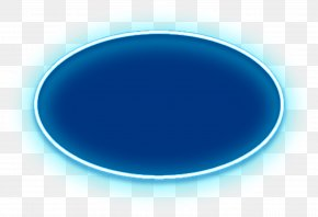 Hand Painted Blue Oval Halo - Turquoise Circle Wallpaper PNG