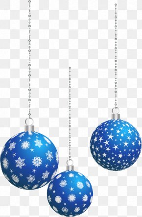 Blue Christmas Decoration Ball - Christmas Ornament Christmas Decoration Clip Art PNG
