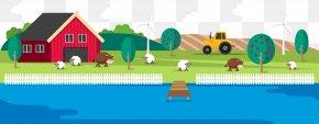 Flat Grassland Pastures - Euclidean Vector Adobe Illustrator Landscape PNG