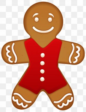 Gingerbread Ornament Clipart Image - Gingerbread Man Muffin Cookie PNG