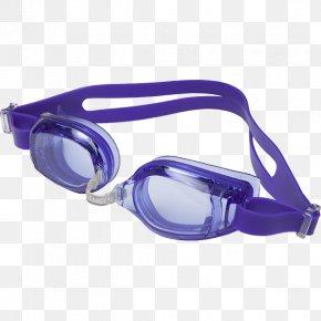 GOGGLES - Purple Goggles Glasses Cobalt Blue Diving & Snorkeling Masks PNG
