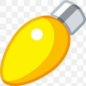 Little Fresh Yellow Light Bulb - Incandescent Light Bulb Lantern Icon PNG