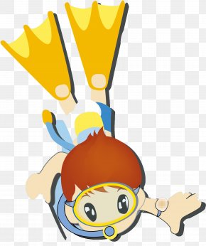 Cartoon Baby Swimming Pool Diving - Swimming Pool Clip Art PNG
