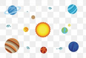 Solar System Starry Sky - Solar System Euclidean Vector PNG