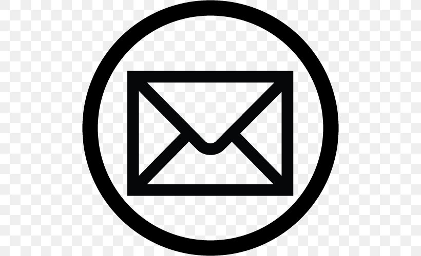 Email Logo Icon, PNG, 500x500px, Email, Area, Black And White, Brand, Button Download Free