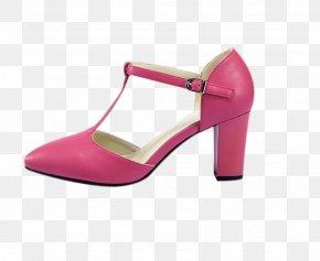 Pink High Heels - Pink Court Shoe High-heeled Footwear Clothing PNG
