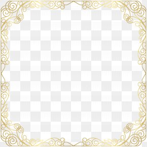 Frame Deco Gold Transparent Clip Art Image - Text Picture Frame Area Placemat Pattern PNG