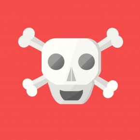 Skulls - T-shirt Skull And Crossbones Piracy Valentine's Day PNG
