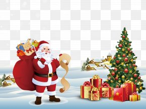 Christmas Elements Free Download - Santa Claus Candy Cane Christmas Decoration Christmas Tree PNG