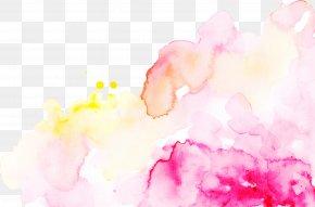 Flower Magenta - Pink Watercolor Paint Petal Magenta Flower PNG