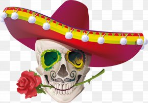 Skull - Calavera Cinco De Mayo Mexican Cuisine Stock Photography PNG