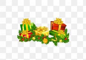 Creative Christmas - Christmas Gift Cartoon Ribbon PNG