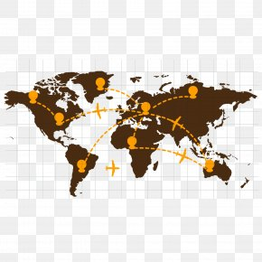Gray Business - United States World Map India Globe PNG