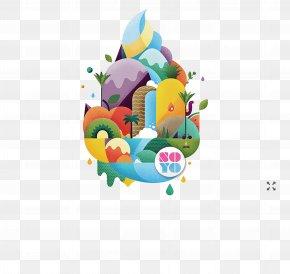 Fruits Island - Frozen Yogurt Brand Art Director Illustration PNG