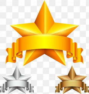 Gold Five-pointed Star - Award Stock Illustration Star Clip Art PNG