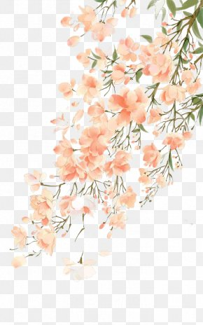 Antiquity Beautiful Watercolor Illustration - Watercolor Painting Flower PNG
