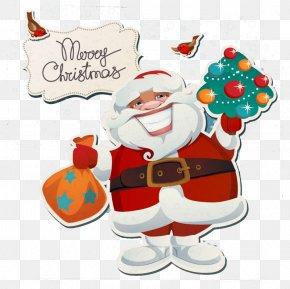 Ziya Cartoon Santa Claus Greeting Card Vector Material - Wedding Invitation Santa Claus Christmas Card Greeting & Note Cards PNG