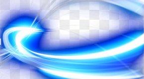 Blue Light Effect Background - Blue Light PNG