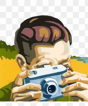 Hand Drawn Illustration Camera Focus - Painting Drawing Paint By Number Illustration PNG
