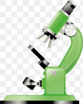 Green Microscope - Microscope Green Cartoon PNG