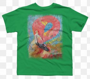 T-shirt - T-shirt Canvas Painting Green Sleeve PNG