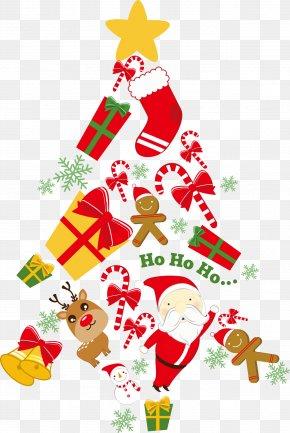 Vector Creative Christmas Tree - Christmas Tree Paper Santa Claus Christmas Card PNG